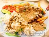 Софрито - традиционно критско ястие с телешки стекове, розмарин и сос от бяло вино с гарнитура пържени картофи